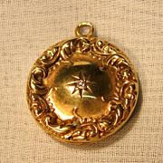 Art Nouveau 10K  Yellow Gold  Locket Pendant