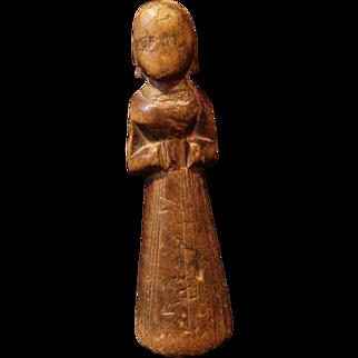 "Karnataka South India Wooden ""Babli"" Fertility Doll"