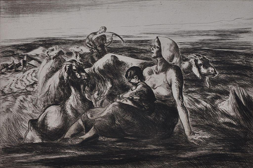 """Cutting Fodder"" a.k.a ""Family in the Field"" by John Edward Costigan 1938"