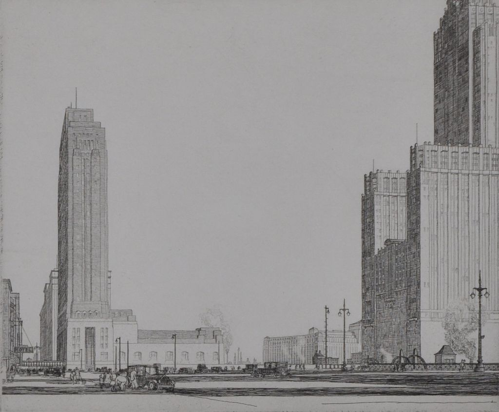 """""""Where the West Begins"""" Etching by Gerald Geerlings Dated 1932"""