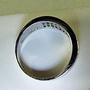 18K White Gold Channel Set Diamond Ring Size 5
