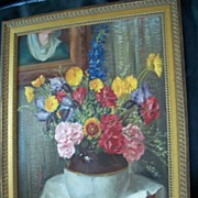 Ariane Beigneux,  Floral  Still Life  Oil