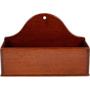 Fine Circa 1825 English Mahogany Dovetailed Wall Box