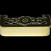 Charming 19th Century Miniature Pierced Brass Fender