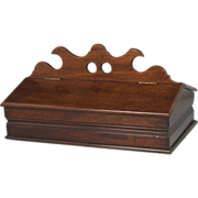 Superb Circa 1850 Mahogany Lidded Two Section Cutlery Box