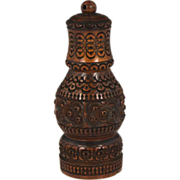 19th Century Carved Coquilla Nut Spice shaker