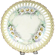 Charming 19th Century Hand Painted and Reticulated Bowl