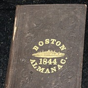 ANTIQUE Boston 1844 Almanac book by S.N Dickinson