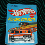 Hot wheels die-cast Flying Colors GMC Motor home #25 unpunched moc