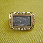 .Antique Georgian 9 kt Gold Mourning Pin