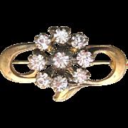 Antique Edwardian Rock Crystal Gilt Pin