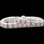 Vintage Art Deco Sterling Rock Crystal Tennis Bracelet