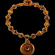 Antique Hand Made European Charm Bracelet