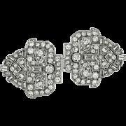 Art Deco Diamond and Platinum Broach Clip