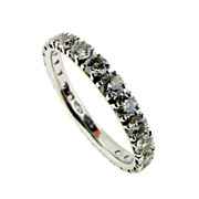 High Quality Diamond and White Gold Eternity Band