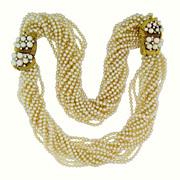 Retro Japanese Pearl, Diamond and Gold Satoire