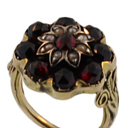 REDUCED 14KT Yellow Gold and Garnet Ring
