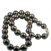 Black Tahitian South Sea Pearl Necklace