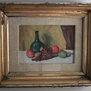 """Maurice Molarsky 1885-1950 """"Still Life with Fruit"""" 1940 Oil Painting"""