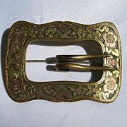 Victorian Era Buckle Pin with Floral Design