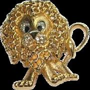 Lion Pin by Vintage Designer Jomaz