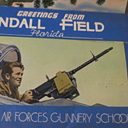 Vintage 1940s old Panama city  Florida Tyndall Field military Postcard portfolio pack