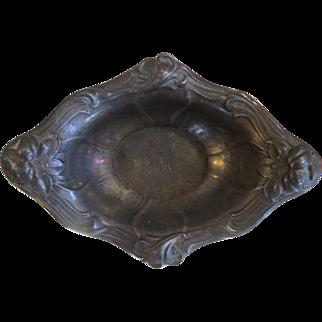 Antique Sterling silver Art Nouveau pin dish