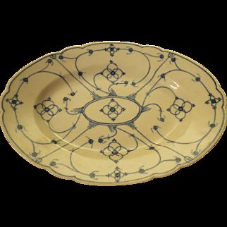Antique blue & white porcelain Onion Pattern Platter