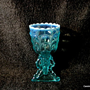 """Northwood """"Beads and Bark"""" Blue Opalescent  Spooner"""