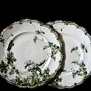 Two Ridgways Dinner Plates Lonsdale Pattern
