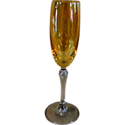 Iridescent Apricot Champagne Flutes by Colony  *Bijoux*