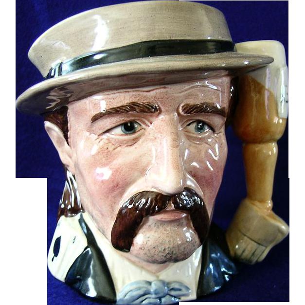 Royal Doulton Wild Bill Hickock  Large Pitcher  (Hickok) Character Mug Toby