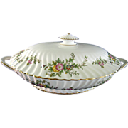 "Minton ""York"" Pattern Covered Vegetable Serving Dish"