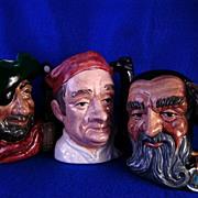 Three Royal Doulton Toby Mugs ..Merlin..  Bootmaker.. & Smuggler