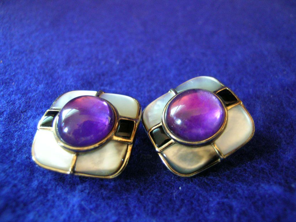 Kai Yin Lo Purple Amethyst Earrings