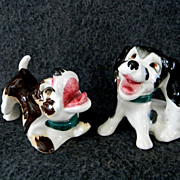 Hound Dog Cork Stoppered Salt & Pepper Shakers