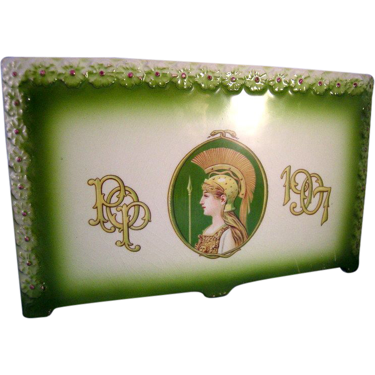 1907 Porcelain Pencil Holder * Priests of Pallus *  Kansas City Missouri