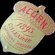 1893 Acorn Stove Calendar