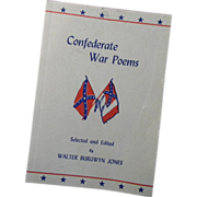 Confederate Civil War Poems Booklet