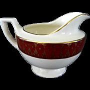 Cronin China Company, **Royal Rajah Maroon Pattern** Creamer