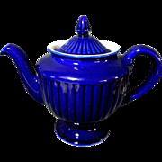 """Vintage Cobalt Blue Hall """"Los Angeles"""" 6 Cup Teapot Tea Pot"""