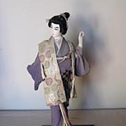Japanese Silk-Skinned Doll, Circa 1920-30s