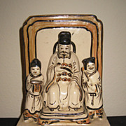 Chinese Glazed Pottery Temple Group