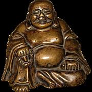 Chinese Bronze Seated Budai