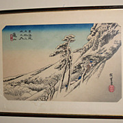 """Old Japanese Woodblock Print of a """"Winter Scene"""""""