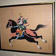 Japanese Painting of a Samurai Warrior