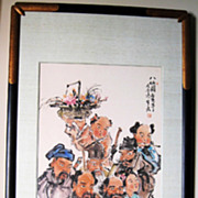 """Superb Chinese Painting of """"Eight Immortals"""" Ba Xian"""