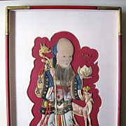 Silk Appliqué of Shou-Lao, God of Longevity