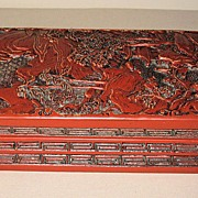 Old Chinese Carved Lacquer Box
