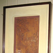 Pair of Framed Chinese Finely Carved Wood Panels